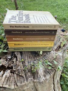 Vintage FOXFIRE Books Volumes 1-5 Eliot Wigginton Homesteading Survival Prep