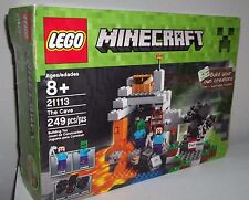 LEGO MINECRAFT THE CAVE SET #21113 Spider, Steve & Zombie MINIFIGS