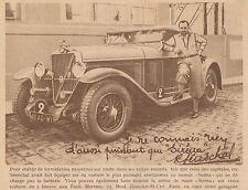 Y8875 Avertisseur pour auto SIRENA - Pubblicità d'epoca - 1932 Old advertising