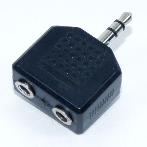 Adattatore da Spina Jack 3,5 mm Stereo a doppia presa Jack 3,5 mm Stereo