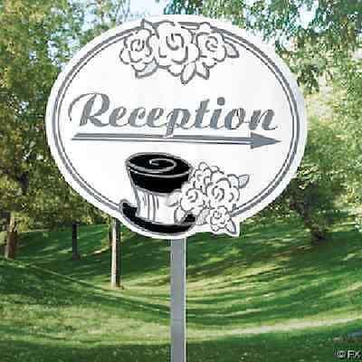 Wedding Reception Yard Sign 5 Piece