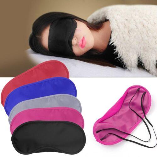 Voyage Sommeil Repos Dormir Aid Masque Yeux Ombre Couverture Confort bandeau bouclier Bla