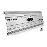 Lanzar 5000 Watt 4 Channel Bridgeable Car Audio Stereo Amplifier With Bass Knob