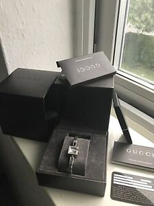 233671a22b7 Image is loading Genuine-Ladies-Gucci-102-G-Mini-Diamond-Bracelet-