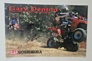 Vintage Poster Gary Denton 1994 Honda TRX400EX Motocross ATV 4 Wheeler Autograph