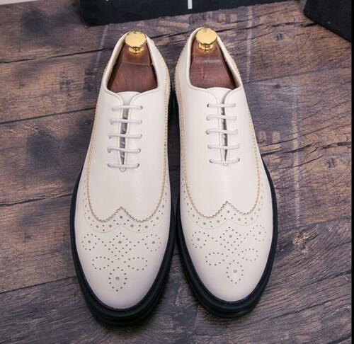 Brogue Carving Men/'s Thick Platform Casual Loafer Lace Up Formal Sport Shoes