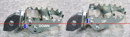 Foot Pegs Pivot MX Off Road  BMW F650GS F700GS F800GS  OUTEX.F-PEG WIDE Race