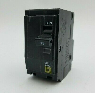 Used SQUARE D QO220 Type QO 20 amp 2 pole 120//240v  Circuit Breaker