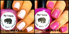 Unique Solar Color Changing Clear - Pink Nail Polish - FREE SHIPPING