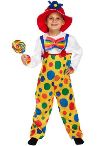 Hat Clown Kids Fancy Dress Up Circus Carnival Boys Girls Child Costume Outfit