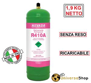 GAS R410A REFRIGERAN RICARICA PER CLIMATIZZATORI CONDIZIONATORI BOMBOLA R410A
