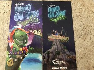 Walt Disney World Typhoon Lagoon H20 Glow Nights Guide Map ...