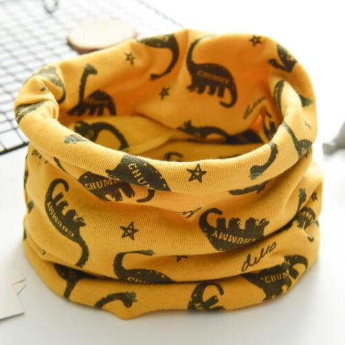 Autumn Winter Boys Girls Baby Animal Cartoon Scarf Cotton O Ring Neck Scarves