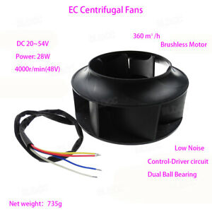 DC-48V-Low-Voltage-Outer-Rotor-Brushless-Centrifugal-Fan-DIY-Radiator-Blower-FY