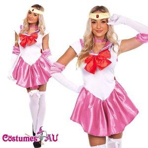 Image is loading Sailor-Moon-Costume-Cosplay-Uniform-Fancy-Dress-Up-  sc 1 st  eBay & Sailor Moon Costume Cosplay Uniform Fancy Dress Up Fantasy Outfit ...