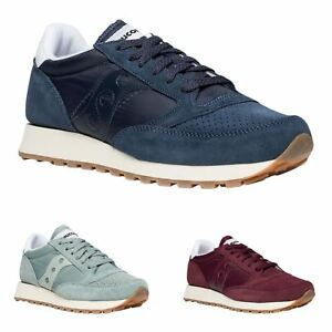 d89eca502087 Image is loading Saucony-Jazz-Original-Vintage-Suede-Textile-Sneakers-Mens-