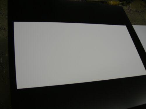 "WHITE POLYSTYRENE PLASTIC SHEET .030/"" X 12/"" X 23-11//16/""  LIGHT DIFFUSING"