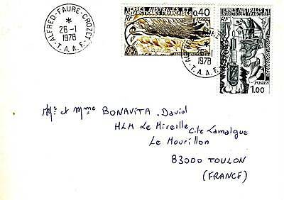 100% Kwaliteit Lettre T.a.a.f /terres Australes / Alfred Faure Crozet Toulon 1978