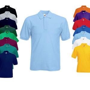 Fruit-of-the-Loom-Herren-Polo-Shirt-Polohemd-S-M-L-XL-XXL-3XL-4XL-5XL-Neu-F502