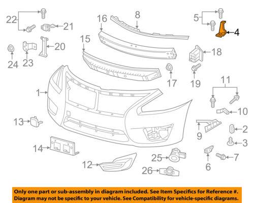 NISSAN OEM 13-15 Altima Front Bumper-Upper Retainer Left 622453TA0A
