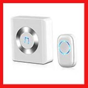 JETech Portable Wireless DoorBell Chime Plug-in Push Button Wireless Doorbell