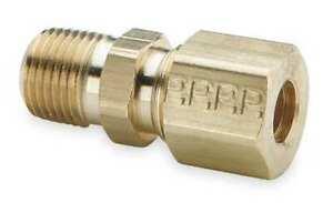 PARKER-68C-6-2-3-8-034-Compression-x-1-8-034-MNPT-Brass-Connector-10PK