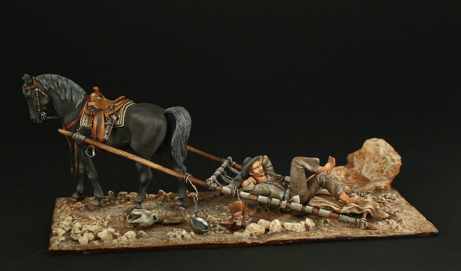 ELITE TIN SOLDIER  Western Colt 54 mm,metal sculpture.