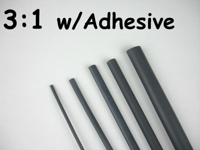 ADHESIVE LINED 3:1 HEAT SHRINK TUBING KIT 1//8 3//16 3//4