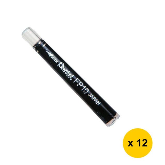 Pentel FP10-A Brush Pen Cartridges (12 refills) - Black Ink
