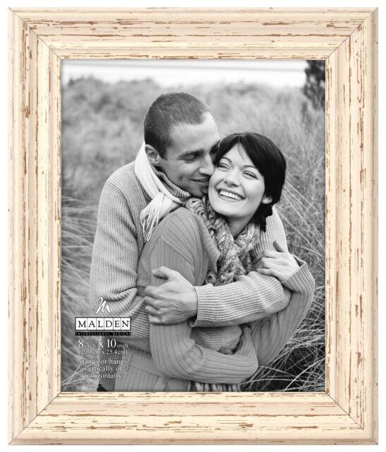 Malden International Designs Off White Distressed 8x10 Wood Picture