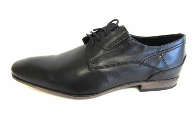 BUGATTI 313-14103-1000 MENS FORMAL SMART LACE UP SQUARE TOE LEATHER SHOES PARTY