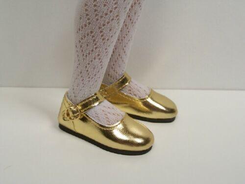 """Debs GOLD Basic Metallic Doll Shoes For 14/"""" Kish Chrysalis Lark Song Wren"""