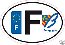 Autoadesivo sticker dipartimento 58 Borgogna