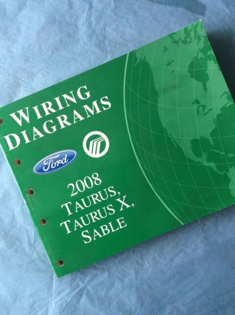 2008 Ford Taurus Electrical Wiring Diagram Manual Se Sel 3 0l V6 Book Guide Shop