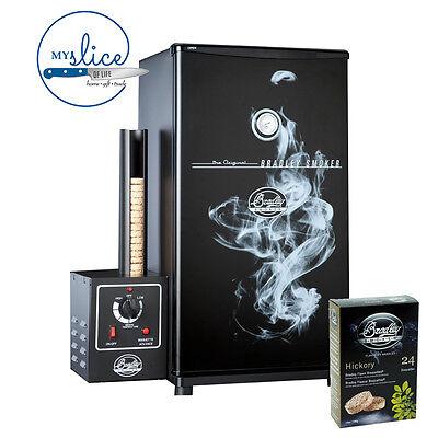 Bradley Original Black 4 Rack Electric Smoker - *Free 24 Hickory Bisquettes*