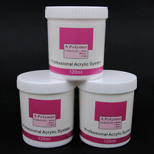 120g pink white clear Acrylic Powder for Nail Art Tip Manicure Builder kit