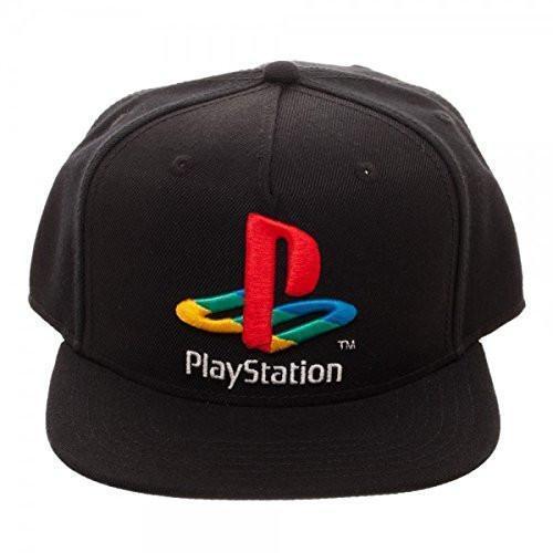 Bioworld Sony PlayStation Logo Snapback Hat Black 8 for sale online ... f6158c7ce53f