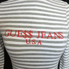 GUESS Originals ASAP Rocky Gray White Striped Mock Turtleneck Top size Small XS