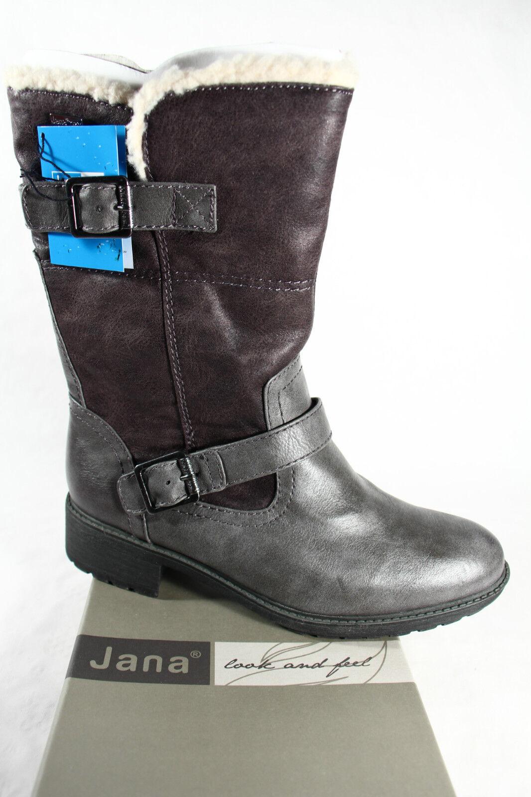 Jana Tex botas , de Invierno, gris, Forro Interior; Suela Perfil Rv26441 Nuevo