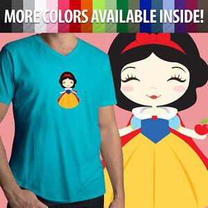 Snow-White-Seven-Dwarfs-Disney-Princess-Cute-Apple-Mens-Women-Unisex-Tee-T-Shirt
