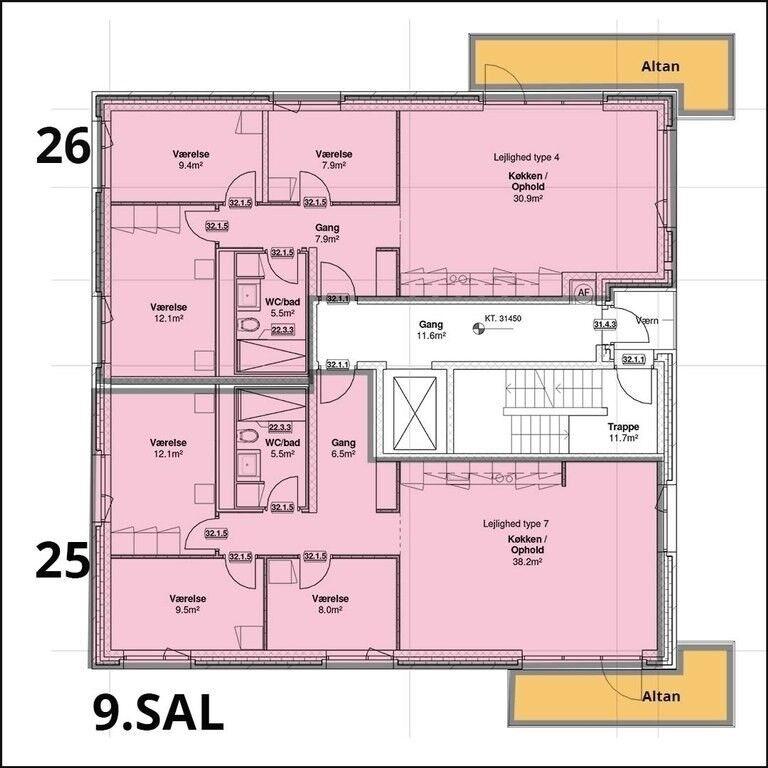 2450 4 lejlighed, 95, Poppelstykket