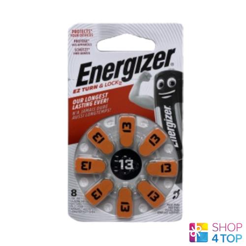 8 13mf pr48 Energizer hearing aid batteries zinc air powerseal 1.4v new