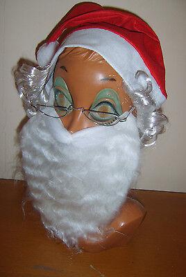 Babbo Natale Set Kit Barba Cappello Occhiali Babbo Natale Natale Costume-mostra Il Titolo Originale