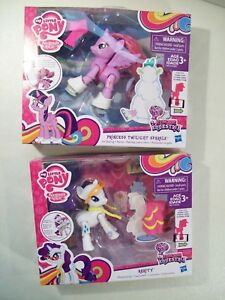 Lot Of 2 New My Little Pony Figures Ice Skating Twilight Sparkle Dress Rarity 630509440948 Ebay