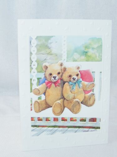 Multi Greeting Cards With Cute Teddy Bears of Choice Branded Blank Note