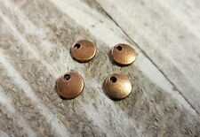 Metal Stamping Blanks Antiqued Copper Metal Blank Tags Circle Charms 10pc 8mm