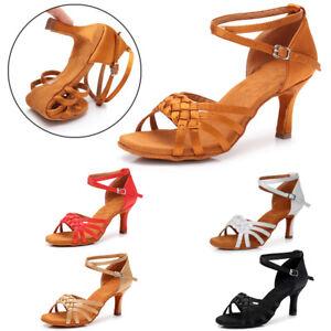 US STOCK Ballroom Latin Tango Dance Shoes heels Salsa Women/'s Girl/'s lady/'s HWC