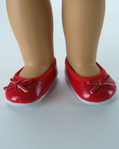 """Doll Clothes 18/"""" Shoes Dress Red Ballet Bow Fits American Girl Dolls"""
