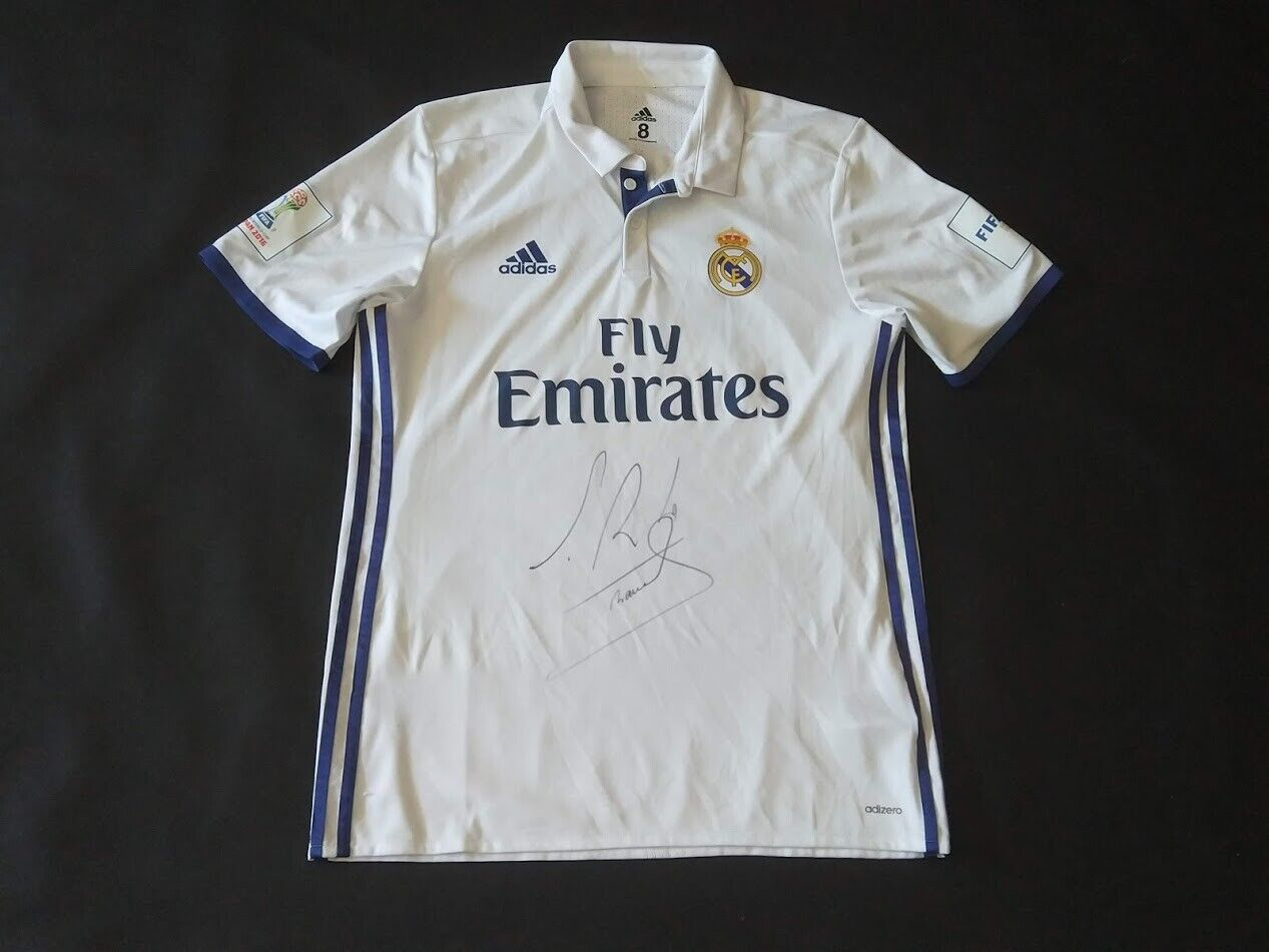 MATCHWORN SHIRT ISSUE RAMOS REAL MADRID CLUB WORLD CUP 2016 JAPAN SIGNED