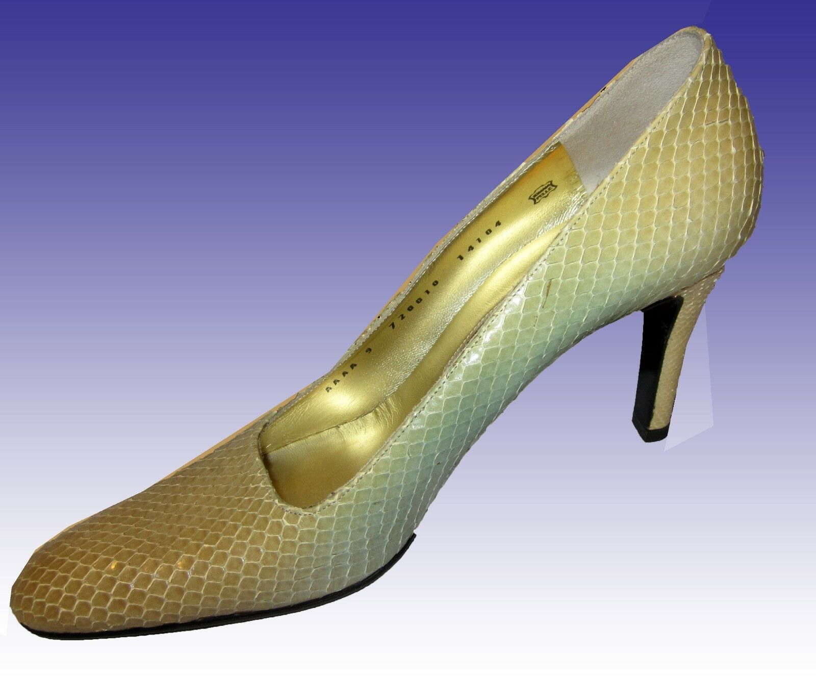 New BRUNO MAGLI COUTURE Heels 8.5AAAA ITALY Snake Pastel Gradient MUST SEE